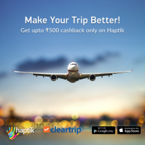 Haptik – Get Flat 50% Casback Upto Rs.1000 On Booking