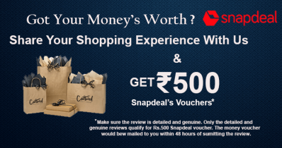 Get Free Rs.500 Snapdeal Voucher On Reviewing Products