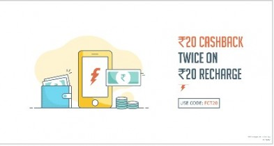 Freecharge – Get Rs.20 Cashback On Recharge Of Rs.20 [All Users]