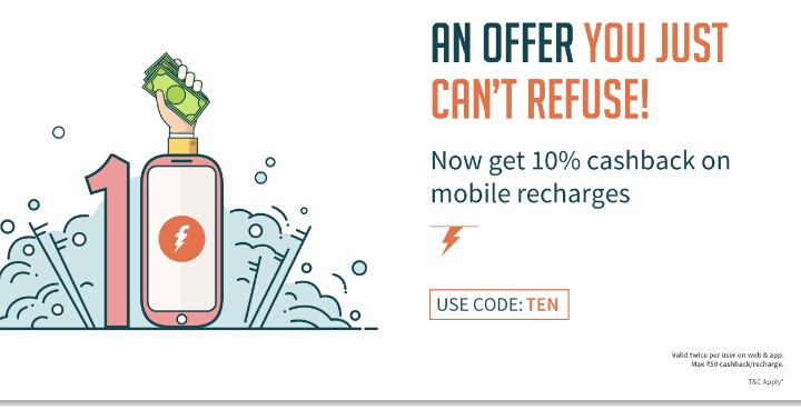 Freecharge TEN Offer