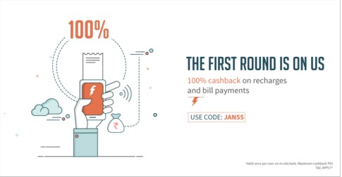 Freecharge JAN55 Coupon