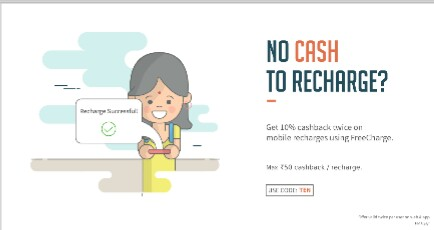 Freecharge - Get 10% Cashback On Mobile Recharge And Bill Payments