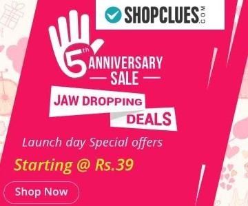 Shopclues 5th Anniversary sale