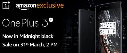 OnePlus 3T Midnight Register on Amazon