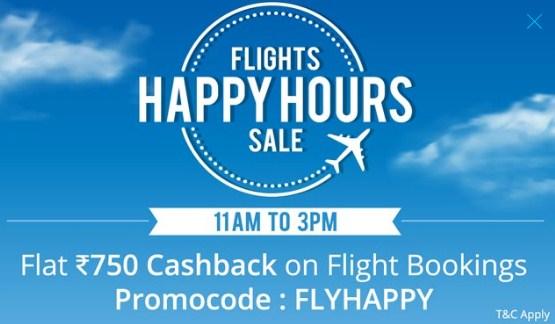 Paytm Flights Happy Hours Sale
