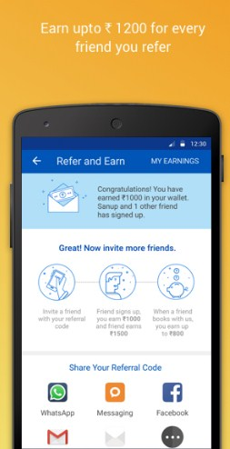 MakeMyTrip Refer and Earn Rs 1400 refer