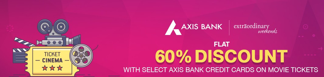 Bookmyshow Flat 60% discount on Booking Sachin movie with Axis Bank Card