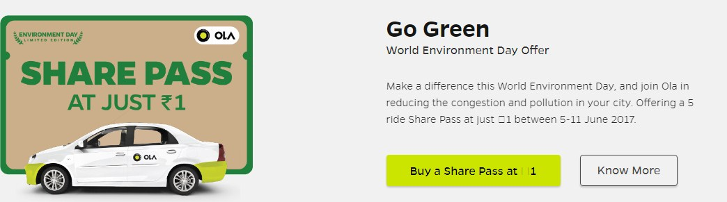 Ola Free pass sale