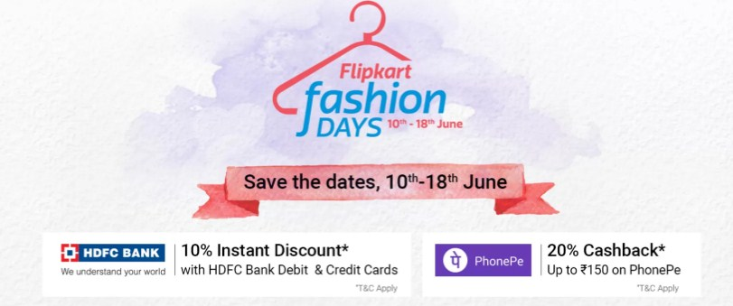 Flipkart Fashion Days Sale