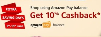 Amazon Pay Balance 10% Cashback on Rs. 300 Shopping