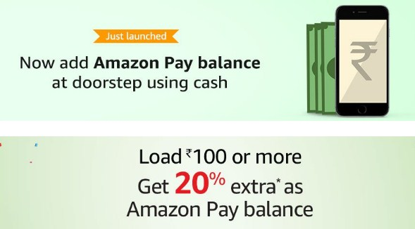 Amazon Pay balance 20% cashback doorstep