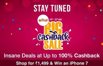 Paytmmall The big Cashback Sale