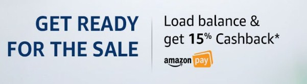 Amazon Great Indian Sale Amazon Pay 15% cashback