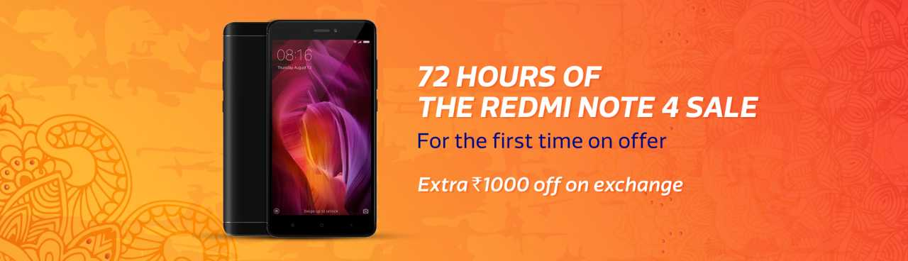 flipkart big freedom sale redmi not 4 sale