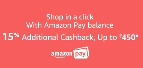 Amazon Pay 15% Cashback Offer