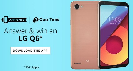 Amazon LG Q6 Contest Answers
