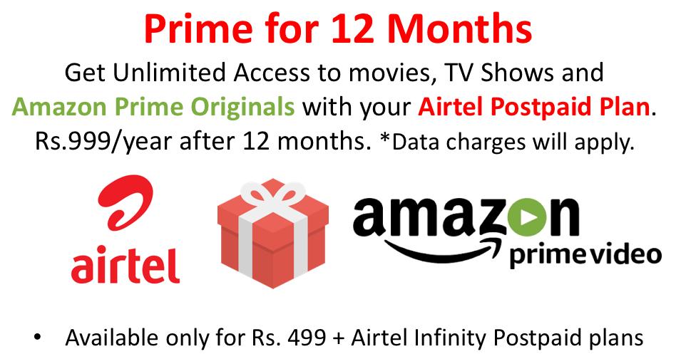 Airtel Amazon Prime Offer