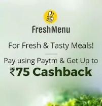 Freshmenu Paytm Offer