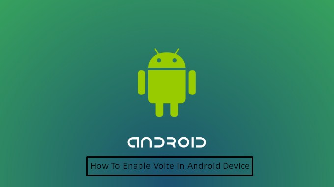 How to enable volte