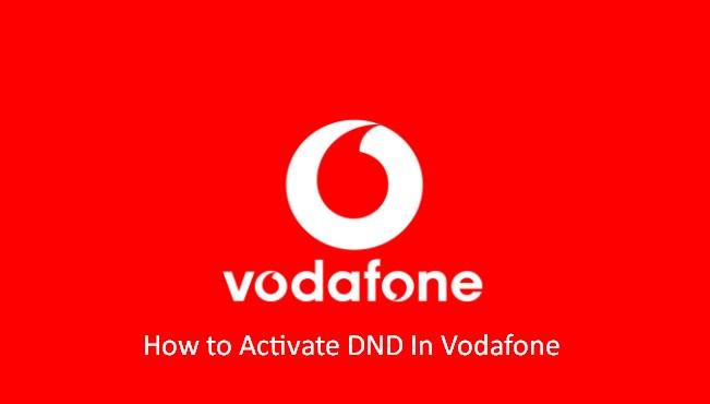 Vodafone DND