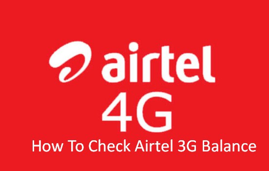 How To Check Airtel 3G Balance