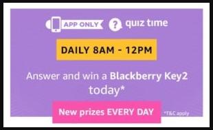 Amazon Blackberry Quiz Answers