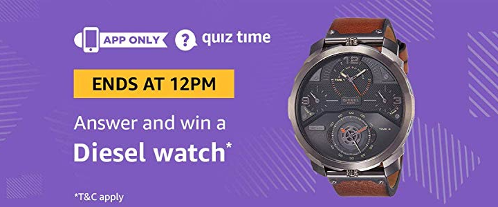 Amazon Diesel Watch Quiz Answers