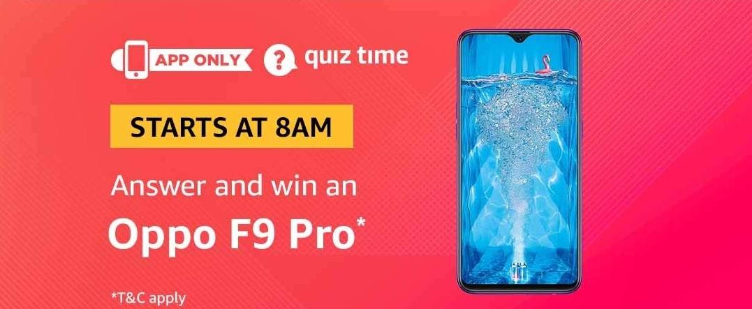 Amazon Oppo F9 Pro Quiz Answers