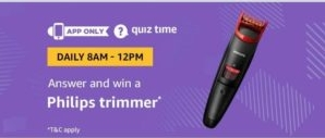 Amazon Philips Trimmer Quiz Answers