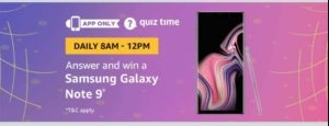 Amazon Samsung Galaxy Note 9 Quiz Answers