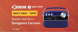 Amazon Saregama Carveen Quiz Answers