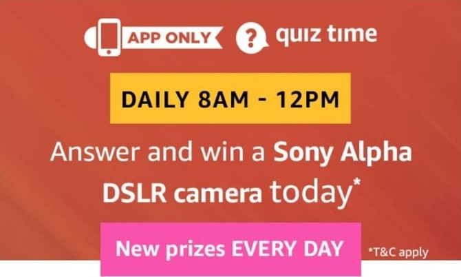 Amazon Sony Alpha DSLR Camera Quiz Answers