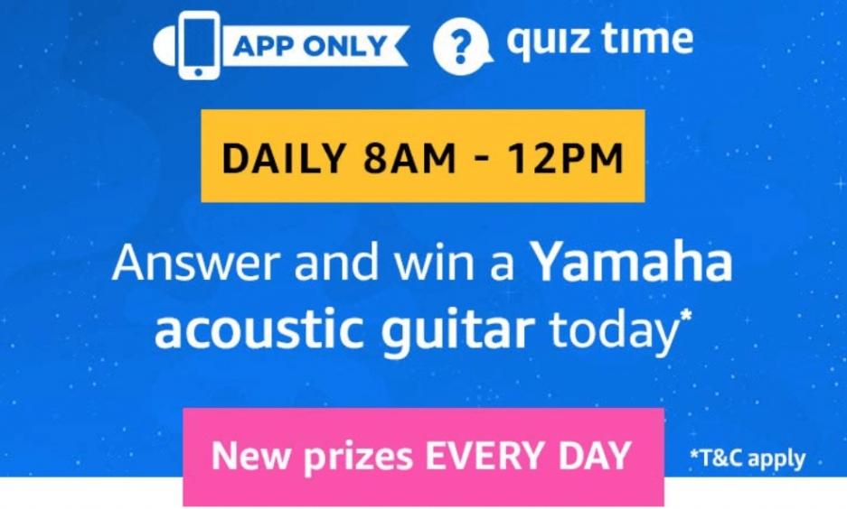 Amazon Yamaha Acoustic Guitar Quiz Answers