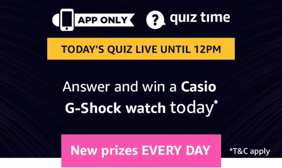 Amazon Casio G-Shock Watch Quiz Answers