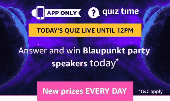 Amazon Blaupunkt Party Speakers Quiz Answers