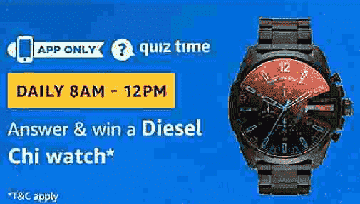 Amazon Diesel Chi Watch Quiz Answers