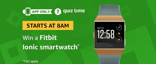 Amazon Fitbit Ionic Smartwatch Quiz Answers