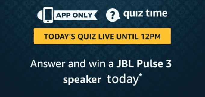 Amazon JBL Pulse 3 Speaker Quiz Answers