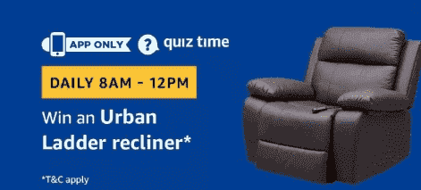 Amazon Urban Ladder Recliner Quiz Answers