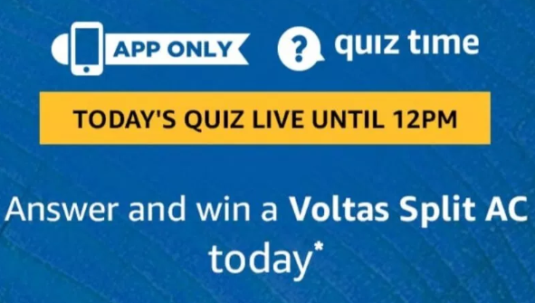 Amazon Voltas Split AC Quiz Answers