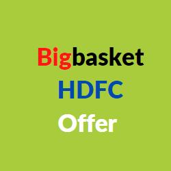 bigbasket hdfc offer