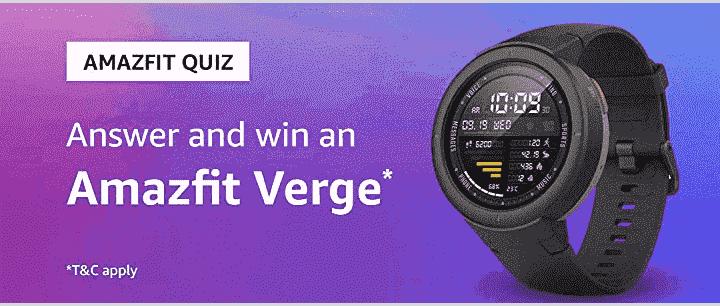Amazon Amazefit Smartwatch Quiz Answers