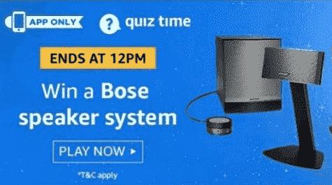 Amazon Bose Companion 50 Quiz Answers