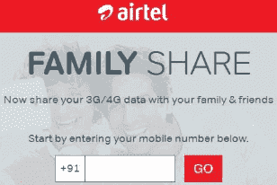 Airtel Family Share data