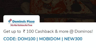 Mobikwik Dominos Coupon