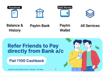 Paytm Refer And Earn Offer