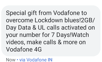 Vodafone Free 2GB Data