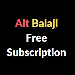 alt balaji free subscription