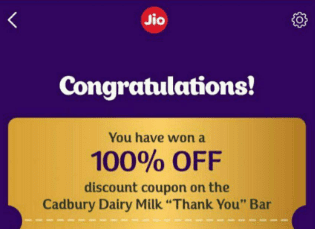 Jio Dairy Milk coupon