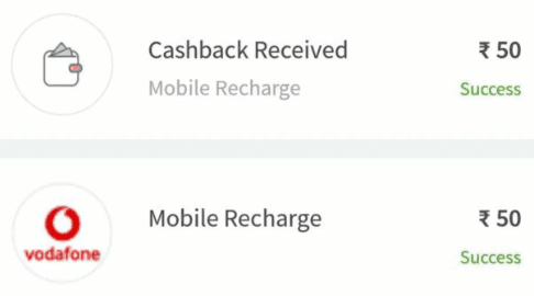 Freecharge Rs 50 Cashback Offer